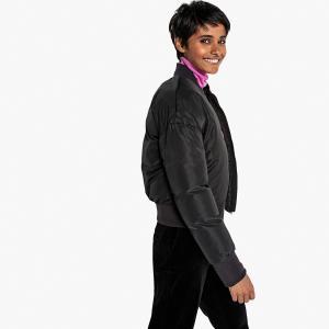 Куртка-бомбер с застежкой на молнию LA REDOUTE COLLECTIONS. Цвет: черный