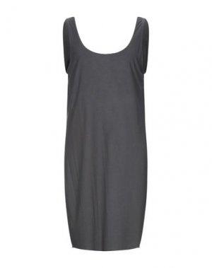 Короткое платье DENHAM. Цвет: стальной серый