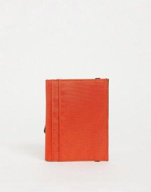 Оранжевая обложка для паспорта с контрастной внутренней частью ASOS Daysocial-Черный цвет Day Social