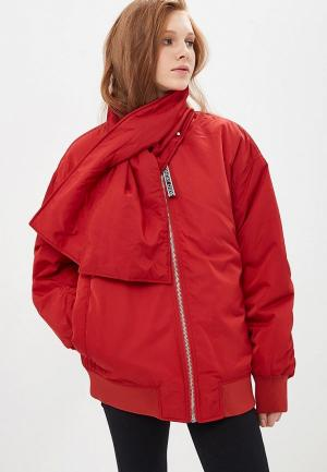 Куртка утепленная Cheap Monday. Цвет: красный