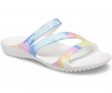 Сандалии женские CROCS Womens Kadee II Graphic Sandal Multi/White арт. 206894. Цвет: multi/white