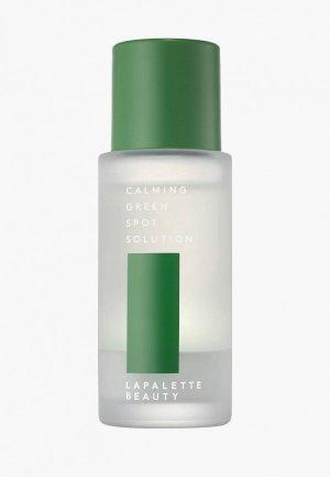 Лосьон-сыворотка для лица Lapalette успокаивающая, точечная, от прыщей CALMING GREEN SPOT SOLUTION, 20 мл. Цвет: прозрачный