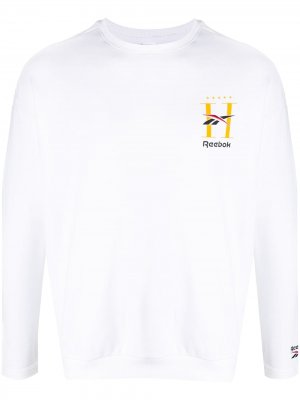 Logo-print long-sleeve sweatshirt Reebok. Цвет: белый