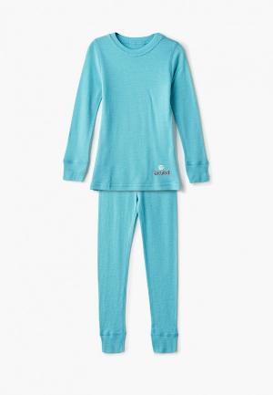 Термобелье Dr.Wool Wool Lite. Цвет: голубой