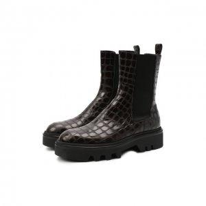 Кожаные ботинки Dries Van Noten. Цвет: коричневый