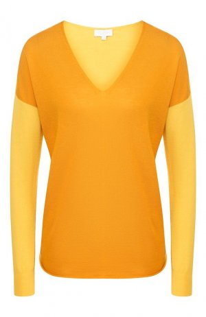 Шерстяной пуловер Escada Sport. Цвет: желтый