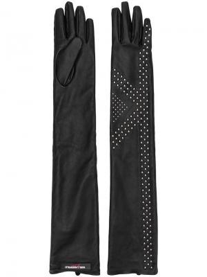 Длинные перчатки Karl X Kaia Lagerfeld. Цвет: черный