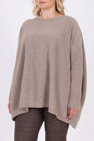 Бежевый пуловер оверсайз Salvatore Ferragamo
