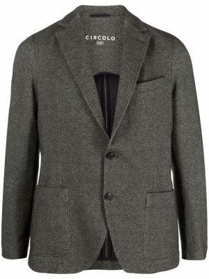 Пиджак с узором в елочку Circolo 1901. Цвет: зеленый