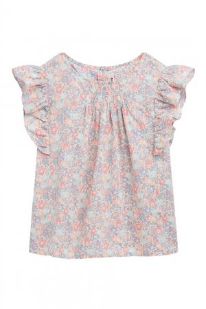 Топ из ткани с цветочным принтом Bonpoint. Цвет: розовый