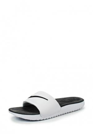 Сланцы Nike BOYS KAWA (GS) SLIDE. Цвет: белый