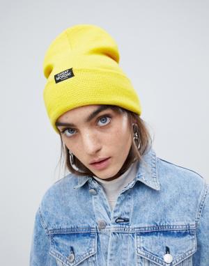 Желтая шапка-бини Cheap Monday. Цвет: желтый