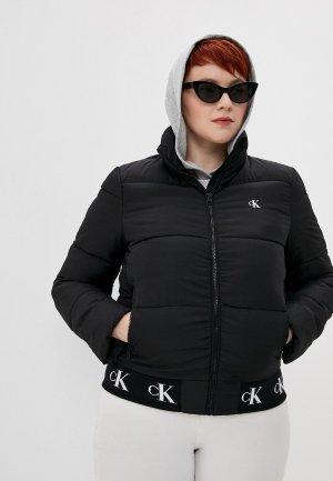 Куртка утепленная Calvin Klein Jeans. Цвет: черный