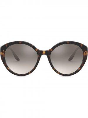 Солнцезащитные очки Ultravox Prada Eyewear. Цвет: коричневый