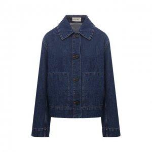 Джинсовая куртка The Row. Цвет: синий