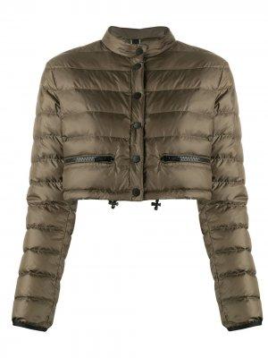 Cropped padded jacket Hogan. Цвет: зеленый