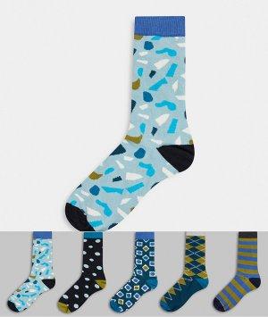 5 пар носков HS by -Синий Happy Socks