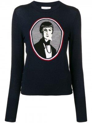 Жаккардовый пуловер Una Portrait Thom Browne