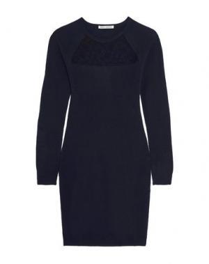 Короткое платье AUTUMN CASHMERE. Цвет: темно-синий