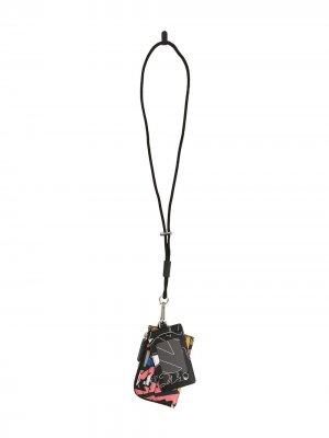 Сет из картхолдера и кошелька со шнурком на шею Ports V. Цвет: черный
