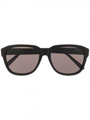 Солнцезащитные очки в массивной оправе Brioni. Цвет: черный