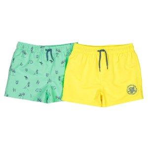 Комплект из 2 шортов пляжных LaRedoute. Цвет: зеленый