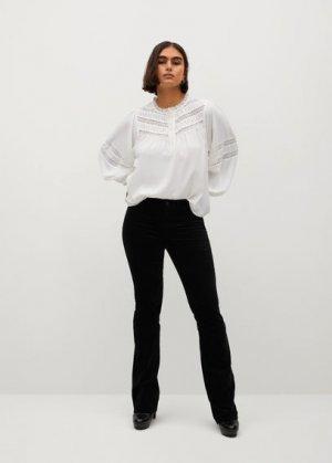 Расклешенные брюки бархат - Vaiana Mango. Цвет: черный