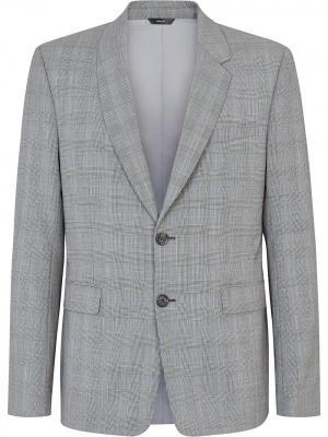 Пиджак в клетку глен Fendi. Цвет: серый