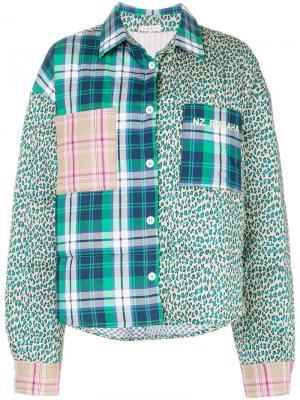 Куртка-бомбер в технике пэчворк Natasha Zinko. Цвет: разноцветный