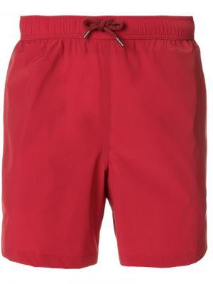 Однотонные шорты для плавания Aspesi. Цвет: красный