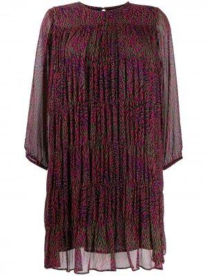 Шифоновое платье Grace Ba&Sh. Цвет: черный