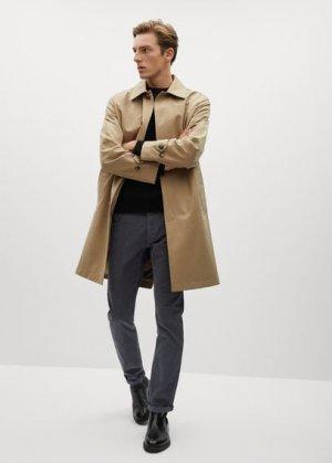Вельветовые брюки в стиле джинсов slim fit - Bardem Mango. Цвет: угольно-серый