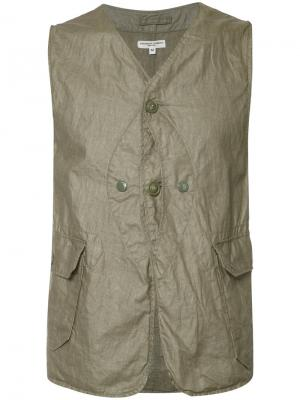 Жилет с карманами Engineered Garments. Цвет: зелёный