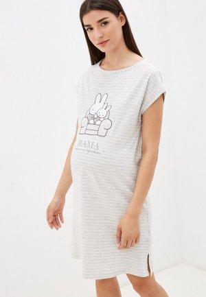 Платье домашнее womensecret women'secret. Цвет: серый