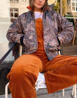 Двусторонняя куртка с камуфляжным принтом и оранжевым флисом Carhartt Wip-Многоцветный WIP