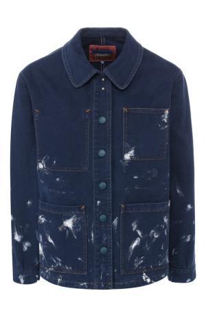 Джинсовая куртка с накладными карманами Acne Studios. Цвет: синий