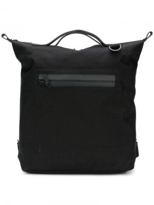Top handle zip pocket backpack Ally Capellino. Цвет: черный