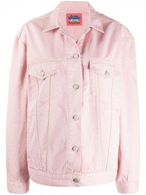 Джинсовая куртка 2000-х годов Acne Studios. Цвет: розовый