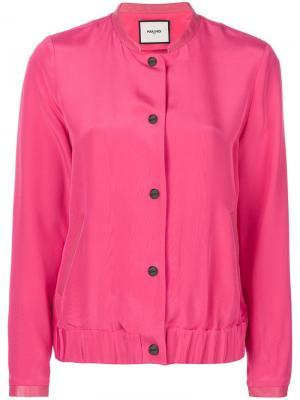 Куртка-бомбер на пуговицах Max & Moi. Цвет: розовый