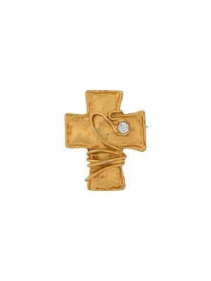 Брошь в виде креста Christian Lacroix Pre-Owned. Цвет: золотистый