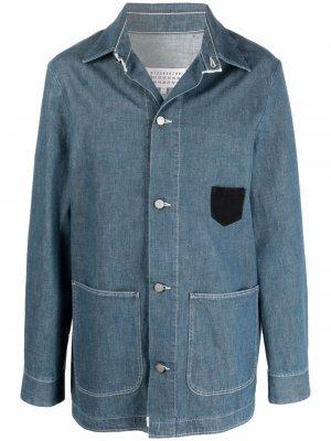 Джинсовая куртка-рубашка Maison Margiela. Цвет: синий