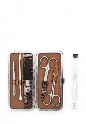 Набор маникюрный Zinger профессиональный, 5 предметов, zMSFE 502-SM. Цвет: серый