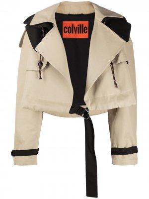 Куртка оверсайз с поясом colville. Цвет: нейтральные цвета