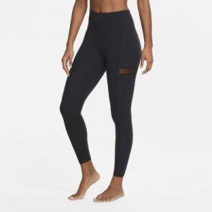 Женские слегка укороченные тайтсы Yoga Nike