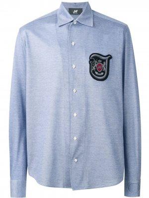 Рубашка с заплаткой логотипом Jo No Fui. Цвет: синий