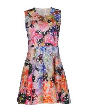 Короткое платье LORELLA SIGNORINO. Цвет: фуксия