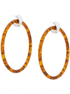 Крупные круглые серьги Balenciaga. Цвет: металлик