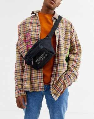 Черная сумка-кошелек на пояс -Черный Tommy Jeans