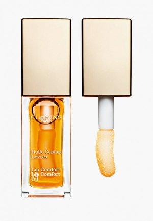 Блеск для губ Clarins масло, Lip Comfort Oil, 01 honey, 7 мл. Цвет: прозрачный