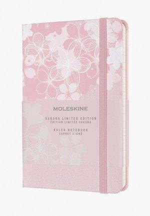 Блокнот Moleskine LE SAKURA Pocket 90x140мм, 192 стр.. Цвет: розовый
